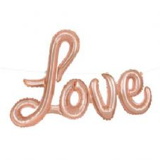 Rose Gold 'Love' Mini Air-Fill Foil Balloon